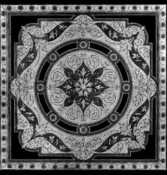 37 Abstract floral mosaic tile vintage ornament vector image vector image