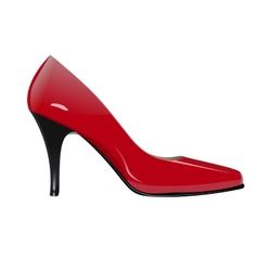 Red high heel vector