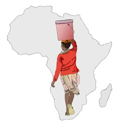 The importance of water in africa vector