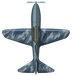 War plane aerial view vector