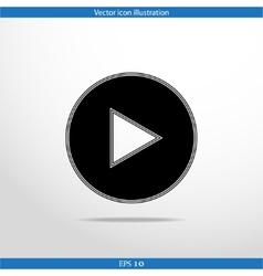Play web flat icon vector
