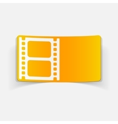 Realistic design element film vector