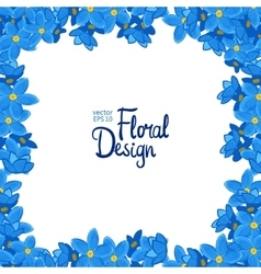 Frame with forget-me-not flowers vector