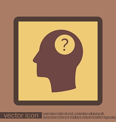 Head with a question mark avatar wonders icon help vector
