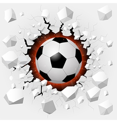 Soccer ball with cracked background vector