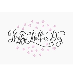 Happy mothers day simple typography vector