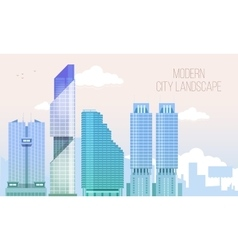 Modern city view skyscraper cityscape background vector