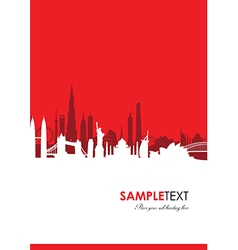 Cityscape red vector