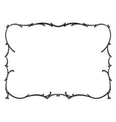 art nouveau black ornamental decorative frame vector image