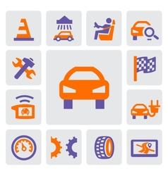 auto and repair icons vector image vector image