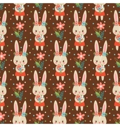 Baby background in with bunnies vector image vector image