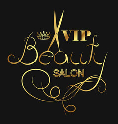 beauty salon vip vector image vector image