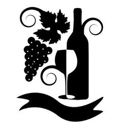 Black-and-white image of wine vector