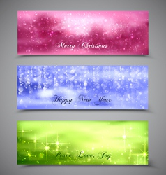 Christmas Banners Set 5 vector image vector image