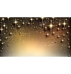 Christmas starry background with sparkles vector image vector image