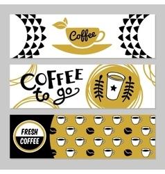 Coffee banner set vector