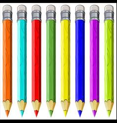 colored pencils vector image vector image