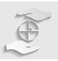 Crosshair target sign vector