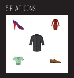 Flat icon clothes set of uniform male footware vector