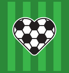 Football love logo vector