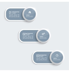 Glossy plastic buttons for infographic vector image vector image