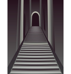 Gothic stairs interior2 vector