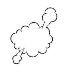 Hand draw comic speech bubble vector