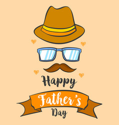 Happy father day background style card vector