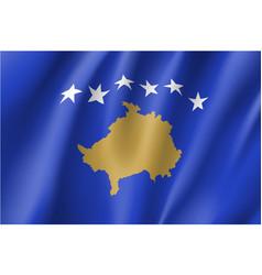 Kosovo national flag vector