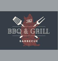 Logo template of restaurant vector