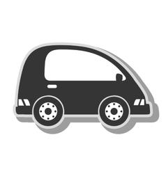 Minivan vehicle transport icon vector
