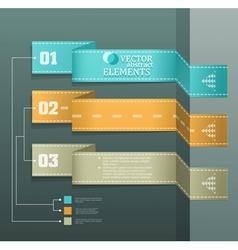Modern banner items for web business design vector
