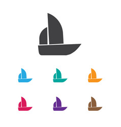 Of complicated symbol on boat vector