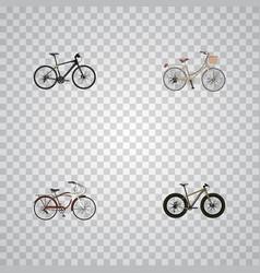 realistic hybrid velocipede journey bike brand vector image