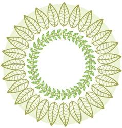 round flower frame vector image