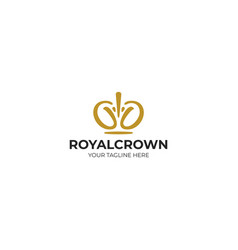Royal crown logo template vector
