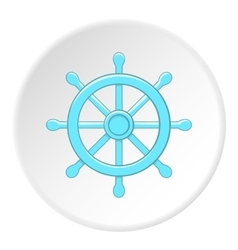 Rudder icon flat style vector