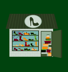 Shoes store building vector