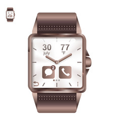 Smart watch square in realistic style vector