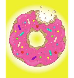 Sweet donut vector