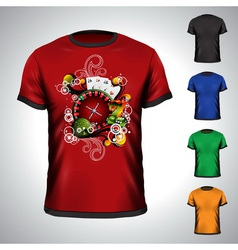T-shirt set on a casino theme vector