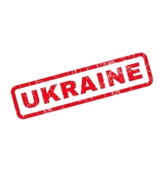 Ukraine rubber stamp vector
