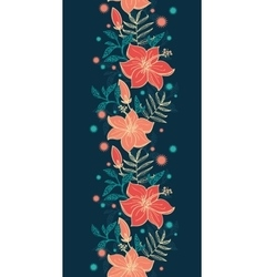 vibrant tropical hibiscus flowers vertical vector image