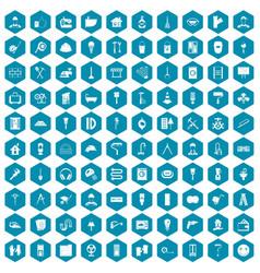 100 renovation icons sapphirine violet vector