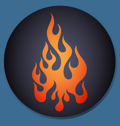 red and orange gradient flame element vector image