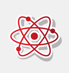 Atom sign   new year reddish vector