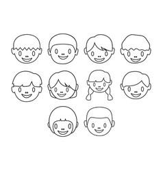 Kids icon set vector