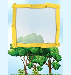 Frame design with trees in background vector