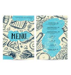 Restaurant and cafe food menu design vector