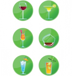 Icon drinks vector
